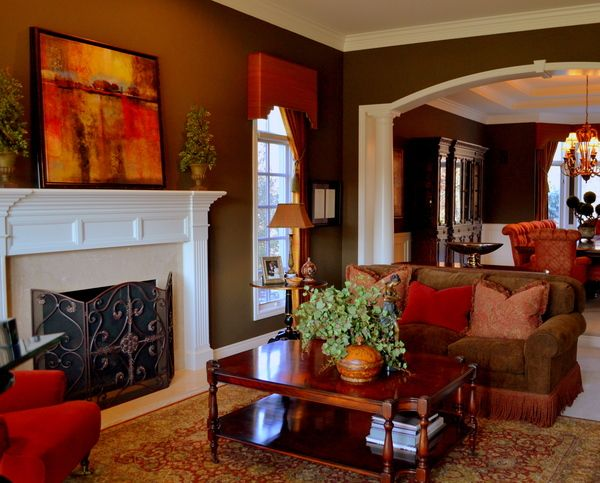 warm living room love the colors home interior on color schemes for living room id=87038