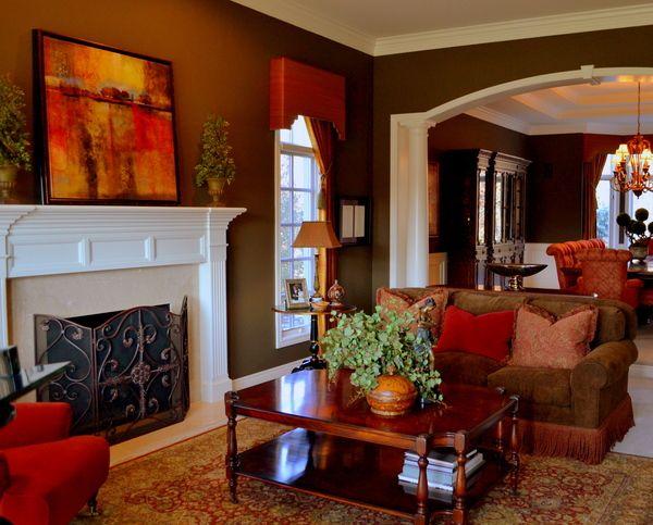 Warm Living Room Love The Colors Interior Design