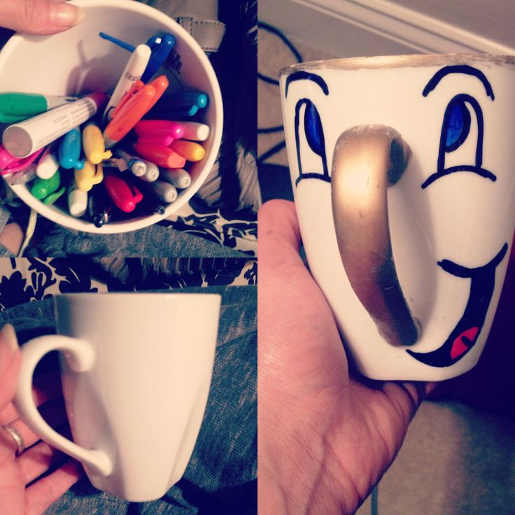 #diy Chip mug inspired by #disney Beauty and the Beast!! just made him and he's too cute.