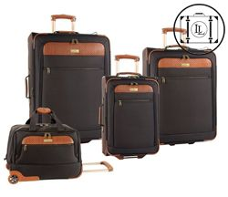Tommy Bahama Mens Luggage Set - Although my husband could do 2 wks in one bag, he Will take 3! Lol