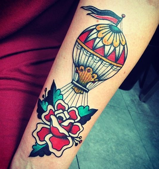 tattoo old school / traditional nautic ink - balloon by Javier Rodriguez
