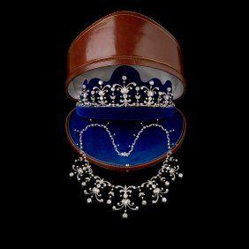 A Late Victorian Diamond Tiara, Circa 1880. Comprising