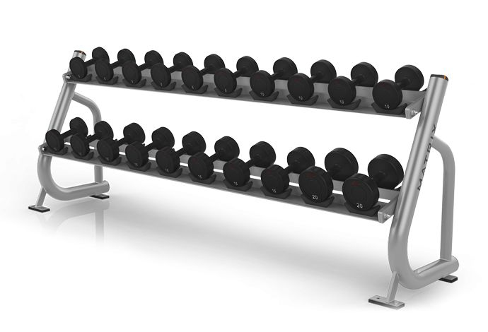 2-tier Dumbbell Rack w/Saddles MG-A84