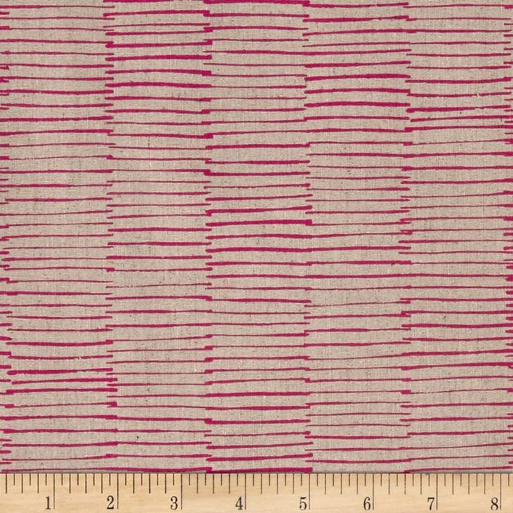 Linen Blend Lines in pink and oatmeal.