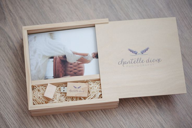 2015/2016 Wedding photography packaging. Hand carved wood box with 4x6 proof inset. Wood usb with color logo. From Photoflashdrive.com