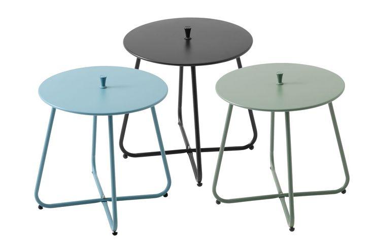 Sivupöytä UHRE Ø45cm teräs laj. | JYSK
