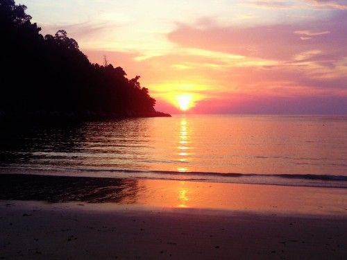 Sunset over Emerald Bay, Pangkor Laut