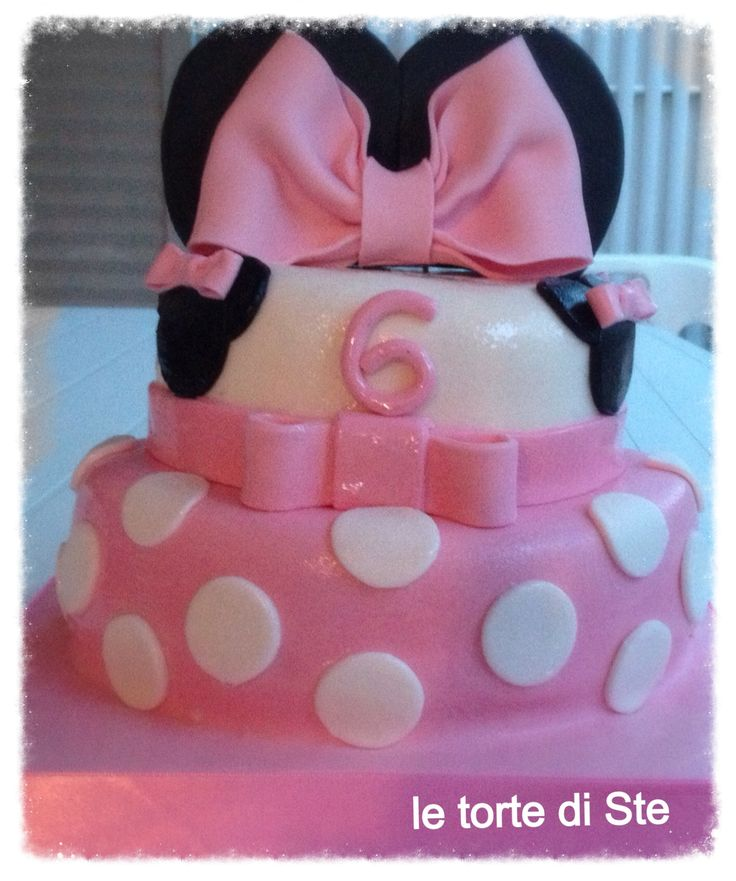 minnie's cake# my first minnie's cake for my daughter# le torte di ste#