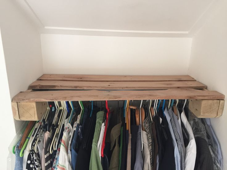Clothes rail and shelf