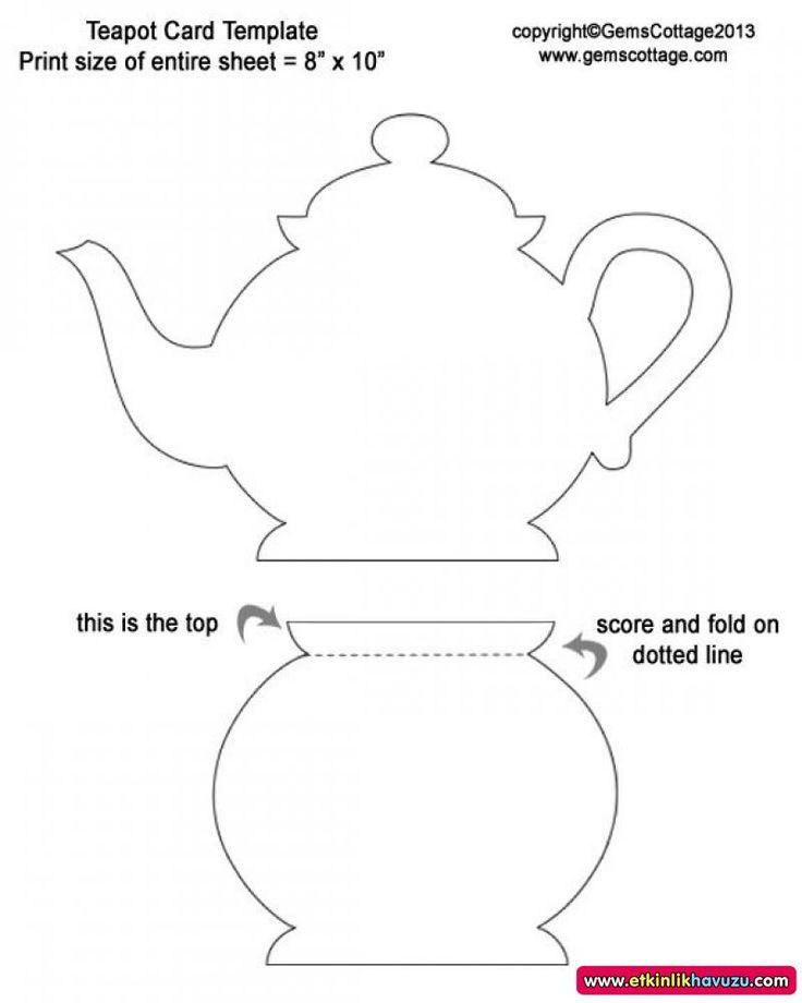Надписью спокойной, открытка чайничек шаблон