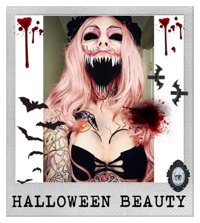 """Halloween Beauty 💀"" by flie9enpilz on Polyvore featuring beauty, Polaroid and Miss Selfridge"