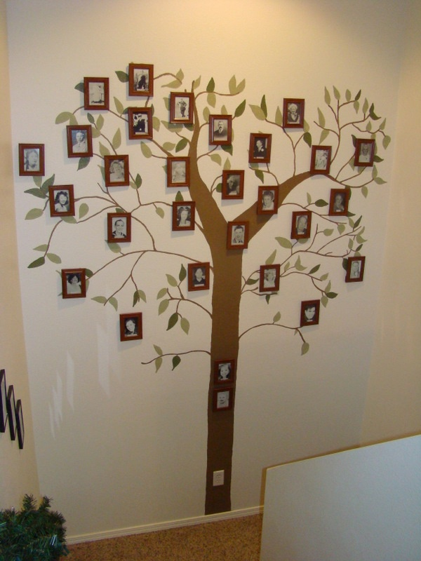 17 best images about family tree ideas on pinterest for Family tree picture wall ideas