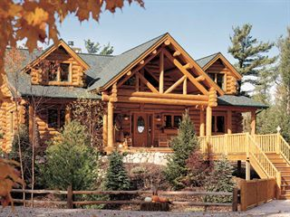 Hybrid Log Homes Half Siding Accents