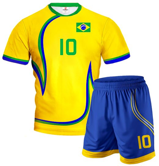 ACTIVE 2014/15 Volleyball Kit National Colors With Custom Name And Number