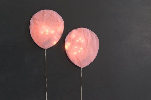 Paper Lightning Led Balloons Ballon Pink Rosa Kleine Ballons Kinder Lampen Led Bilderrahmen