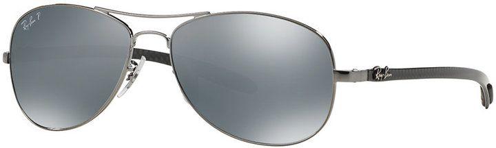 Ray-Ban Polarized Sunglasses, RB8301 56 Carbon Fibre