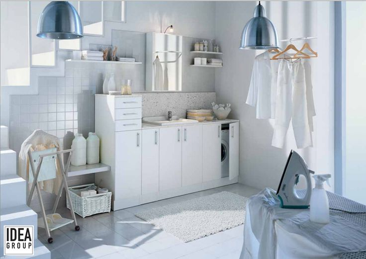 A simple solution for difficult spaces: Spazio #Ideagroup - laundry furniture