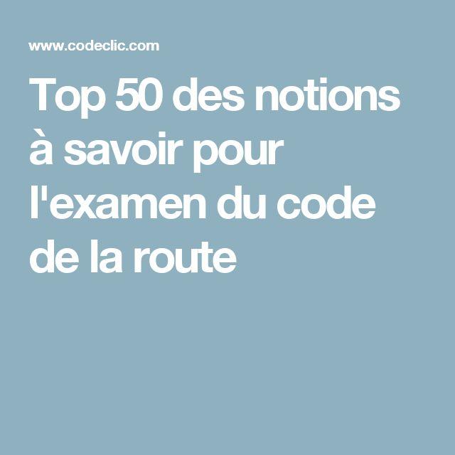 Top 50 des notions à savoir pour l'examen du code de la route