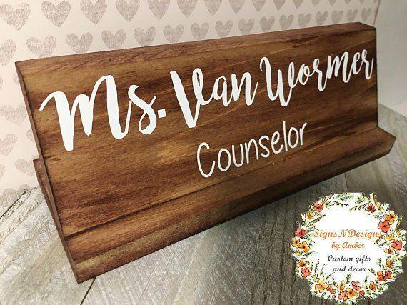 Custom Desk Sign Graduation Gift Personalized Name Plate Acrylic Name Plate Nameplate Modern Farmhouse Decor Office Decor