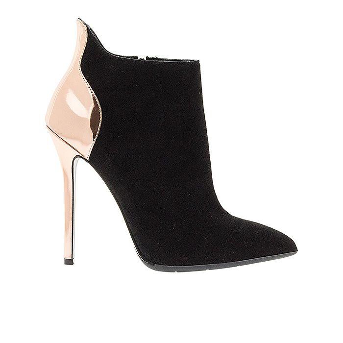 120413-BLACK RAME #mourtzi #ankleboots #suede #sexy #metallics www.mourtzi.com