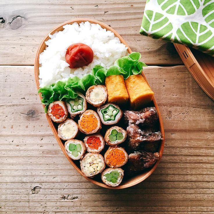 いいね!791件、コメント33件 ― まるさん(@maru_528)のInstagramアカウント: 「2016/09/11 今日のお弁当。 ・野菜の肉巻き オクラ・人参・さつまいも ヤングコーン・アスパラ・パプリカ ・秋刀魚の竜田揚げ ・ネギ入り卵焼き * * 残ってた野菜全部巻いてやったぜ٩( ᐛ…」