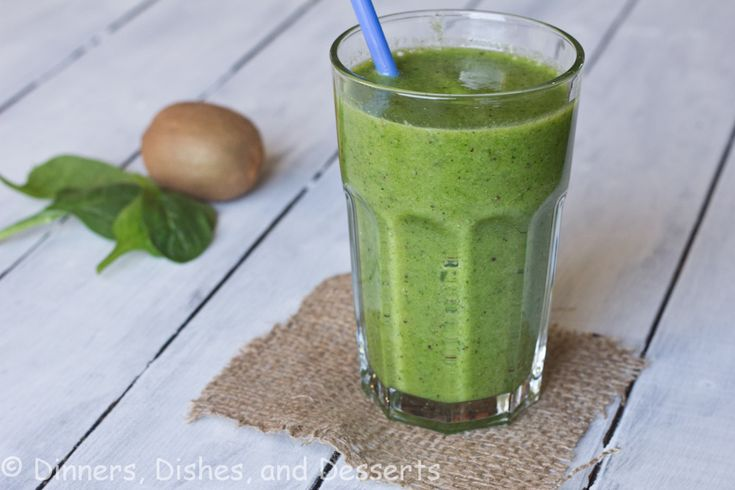 Kiwi Spinach Smoothie: 2 kiwi, peeled and halved ½ banana, peeled 1 cup baby spinach ½ cup vanilla yogurt (any kind is fine) 2 Tbls ground flax seed (optional) ½ cup apple juice 10-12 ice cubes