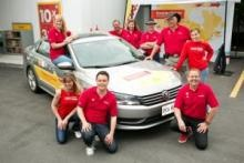 Shell Canada's Smarter Driver Challenge team--Ice Road Truckers star Alex in the hat.