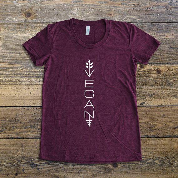 Modern Vegan t-shirt.  If you are a vegan, a vegetarian or you just love veggies, show it to the world with our collection of vegan t-shirts! You