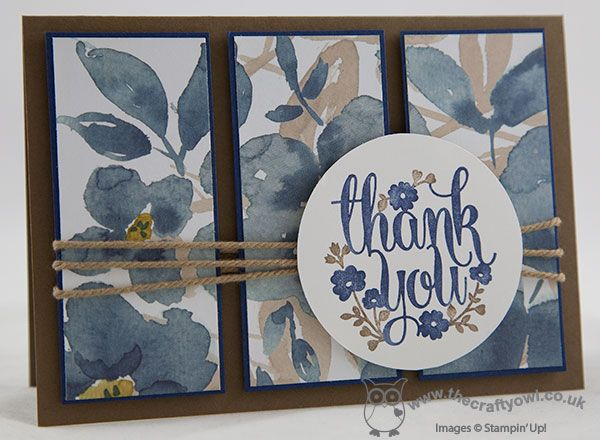 #awholelotoflovely #englishgarden #thanks The Crafty Owl | A Whole Lot of Lovely English Garden Thank You Card