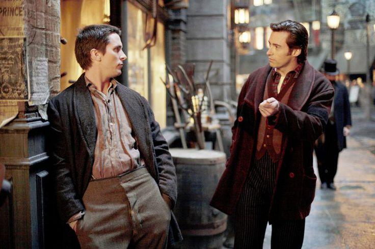 Still of Christian Bale and Hugh Jackman in El truco final (El prestigio) (2006)