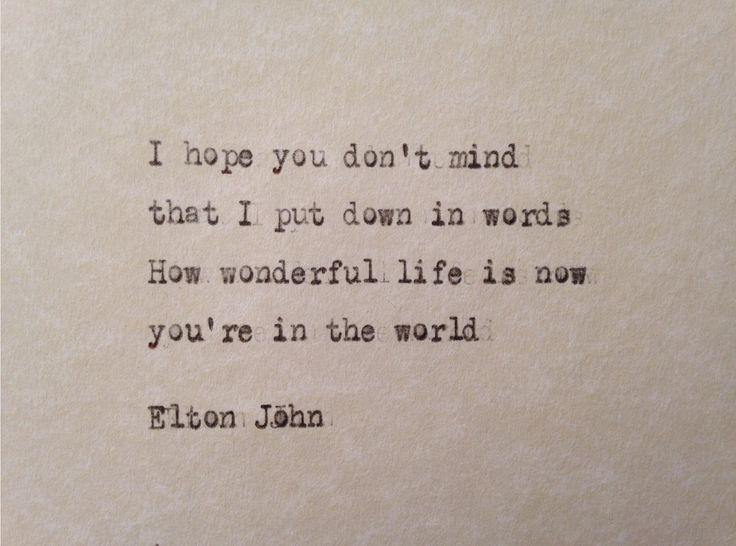 elton john valentine's day lyrics