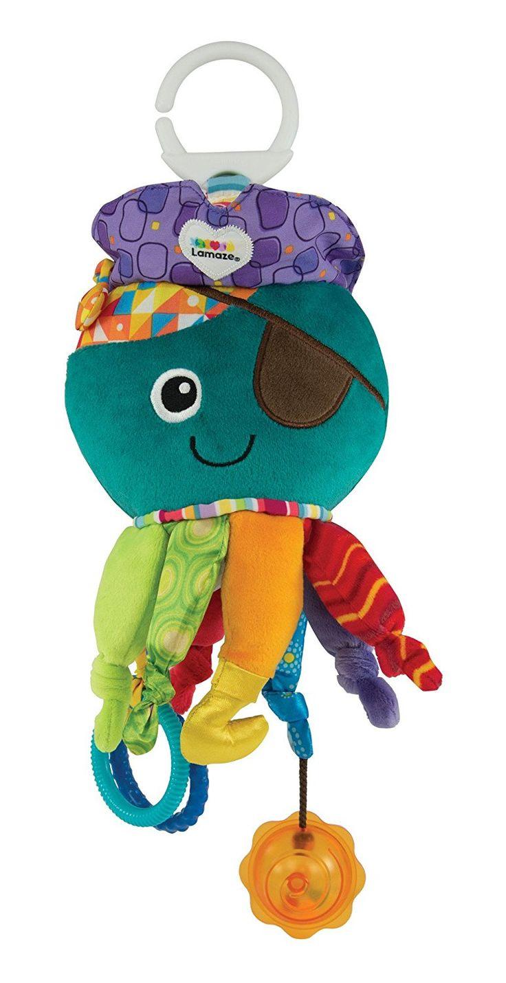 """Lamaze Baby Spielzeug """"Captain Calamari, die Piratenkrake"""" Clip & Go - hochwertiges Kleinkindspielzeug - Greifling Anhänger zur Stärkung der Eltern-Kind-Bindung - ab 0 Monate: Amazon.de: Spielzeug"""