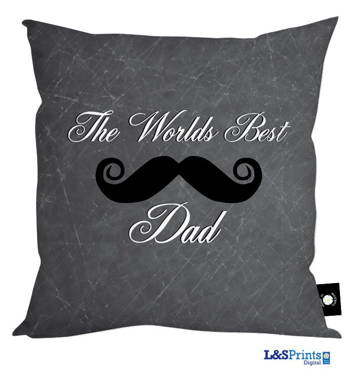 THE WORLDS BEST DAD MOUSTACHE CUSHION FATHERS DAY GIFT DAD BIRTHDAY PRESENT in Home, Furniture & DIY, Celebrations & Occasions, Other Celebrations & Occasions | eBay