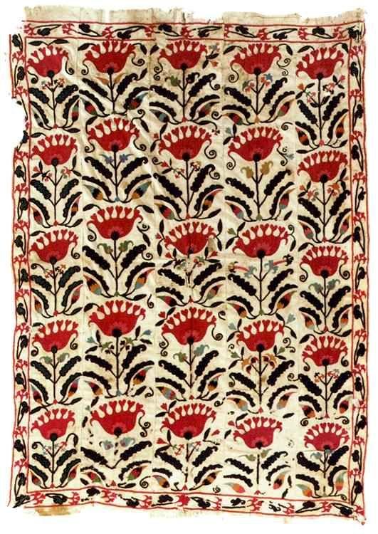 Suzani Embroidery: Samarkand Suzani Circa 1900