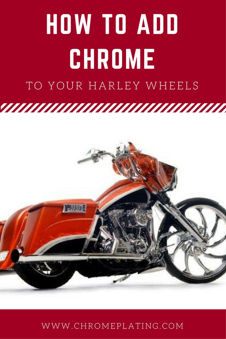 Discover the different types of #chrome plating you can add to your #Harley wheels and information on pricing. Learn more! #chromeplating