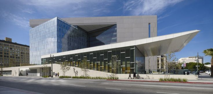 Los Angeles Police Department Headquarters in Los Angeles, California; designed by AECOM