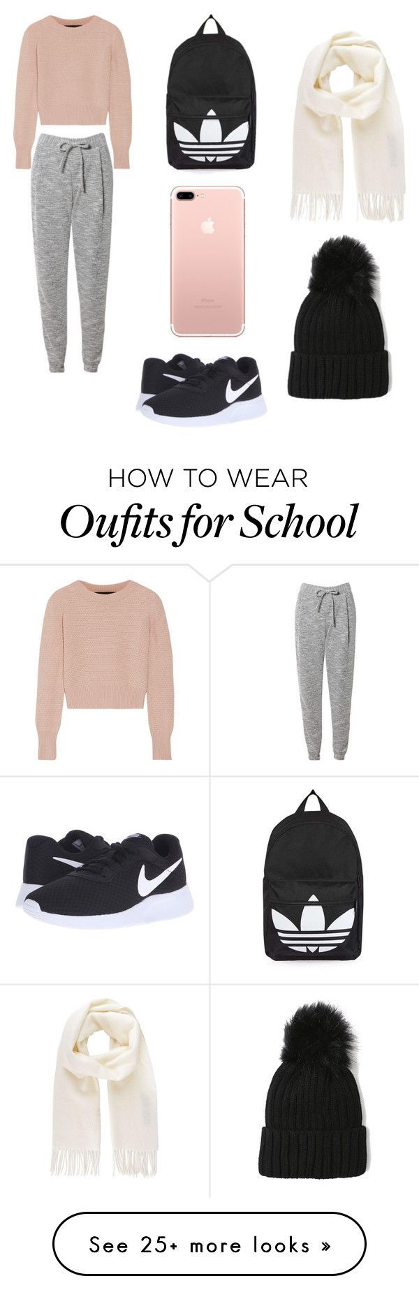"""Lazy Day at School"" by xxgirlstylesxx on Polyvore featuring The Elder Statesman, Related, NIKE, Topshop and Vivienne Westwood"
