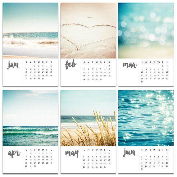 2021 Calendar Well Or Calendar 2020 Desk With Easel Nautical Etsy In 2021 Mini Desk Calendar Beach Calendar Themed Photography
