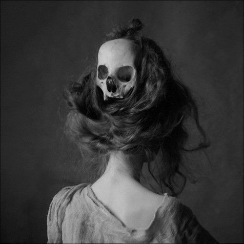 chilling.Skull, Lord Byron, Halloween Hair, Bones, Art, Gibson Girls, Nests, Hair Accessories, Photography