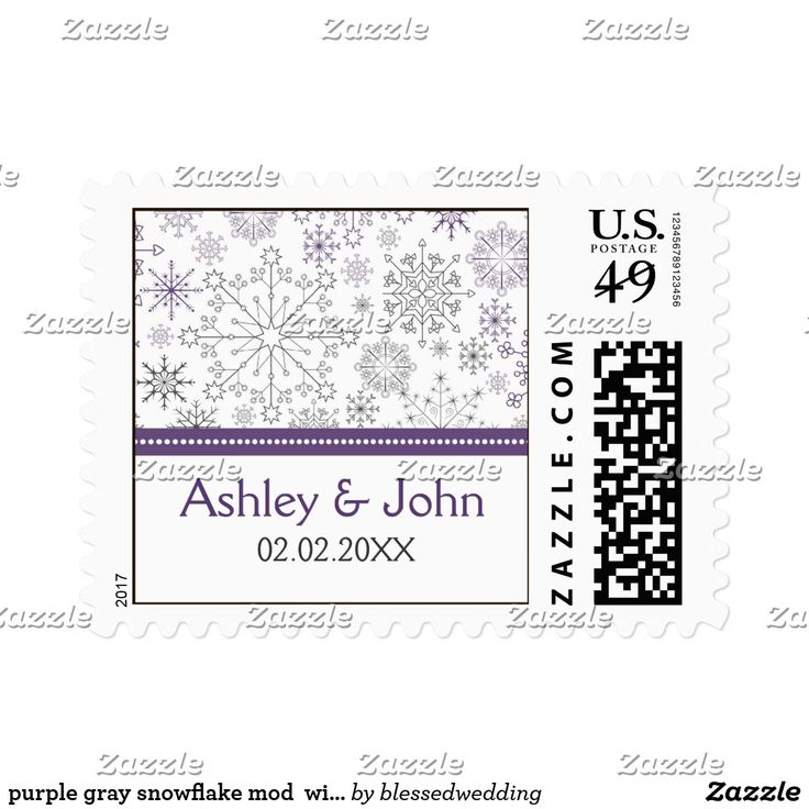 purple gray snowflake mod winter wedding stamps purple gray snowflake mod elegant winter wedding stamps. Matching products also available.