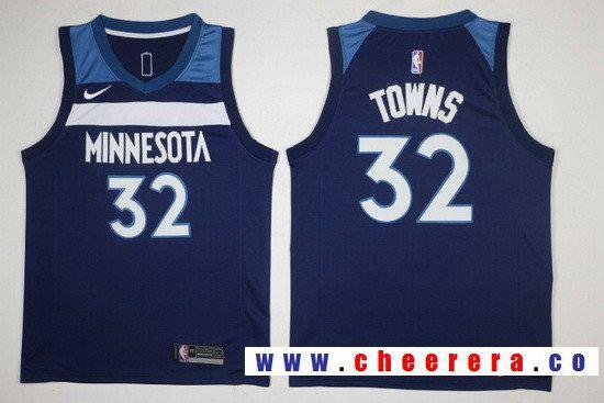 timeless design d9289 37841 Men's Minnesota Timberwolves #32 Karl-Anthony Towns Navy ...