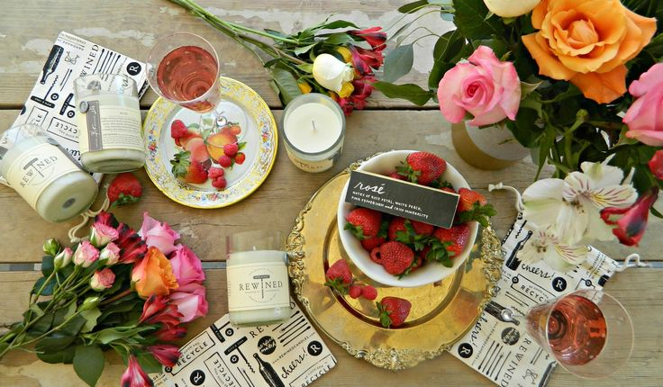 Rewined Candles- Rosé scent