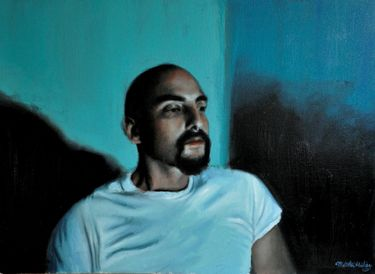"Saatchi Art Artist Matthew Hickey; Painting, ""Screen time: Ernesto"" #art"