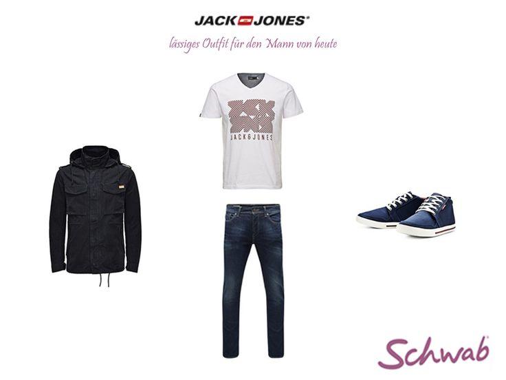 Dieses lässige Outfit von Jack & Jones ist ideal für modebewusste Männer. #JackandJones
