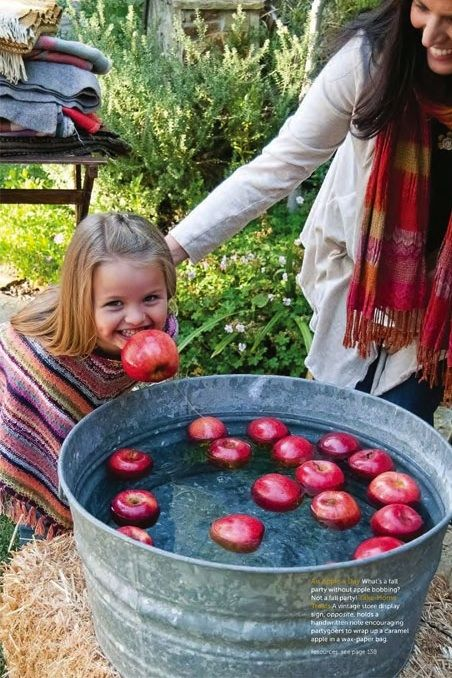 Do some apple bobbing at your PTO/PTA Bonfire Night / Firework party.