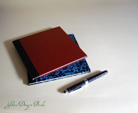 Blank notebook / black and red / handbound by GreenDragonBooks, $62.00