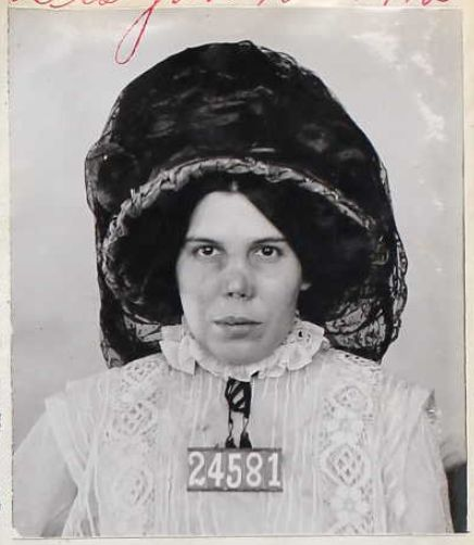 Female inmates of San Quentin State Prison and their very fine hats.