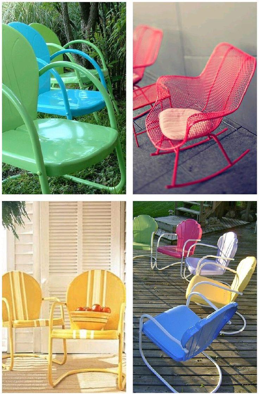 Miniatura metal retro vintage cadeira barbeiro barbearia r 129 70 - 7 Cadeiras De Metal Pintadas No Blog Detalhes Magicos
