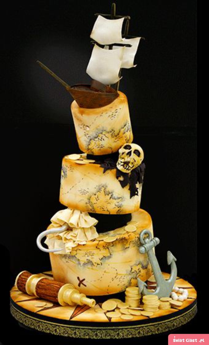 992 best Pirate Cakes images on Pinterest Pirate cakes Pirate
