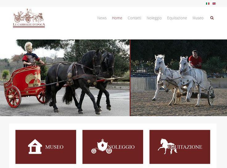 Realizzazione sito web Le Carrozze d'Epoca. http://lecarrozzedepoca.it/